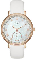 Kate Spade White and rose gold pave monterey multifunction watch