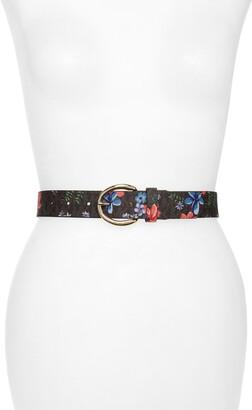 Michael Kors Floral Monogram Faux Leather Belt