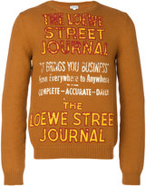 Loewe Street journal sweater - men - Cotton/Polyamide - S