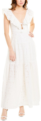 SUBOO Azalea Ruffled Maxi Dress