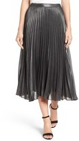 Halogen Pleated Lurex ® Midi Skirt (Regular & Petite)