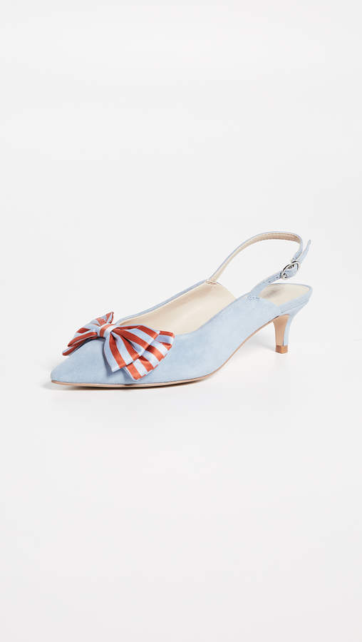 Cupcakes And Cashmere Jevlyn Bow Slingbacks