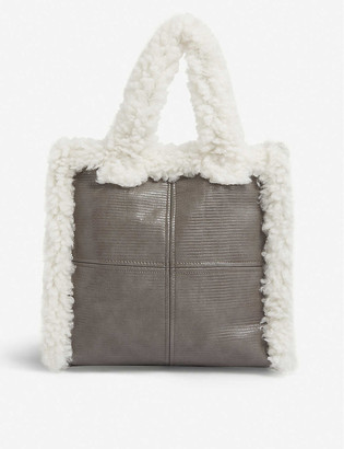 Stand Lolita faux-shearling tote bag