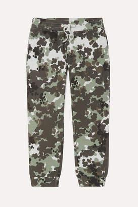 Stella McCartney Camouflage-print Organic Cotton-fleece Track Pants - Green