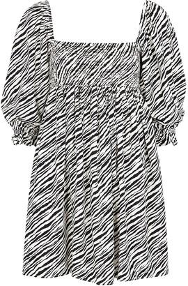 Faithfull The Brand Alina zebra-print mini dress