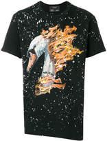 Dom Rebel flaming swan T-shirt