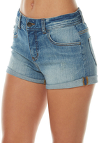 Billabong Roll Ups Womens Denim Short Blue
