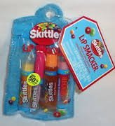 Bonne Bell Lip Smacker Skittles Tropical Lip Gloss Collection 4 Pieces in Zippered Pouch by Lip Smackers