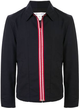 Comme des Garcons Pre Owned fitted zipped shirt jacket