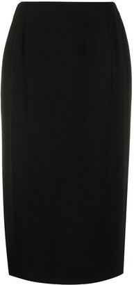 Gianfranco Ferré Pre-Owned 1990s Straight-Fit Midi Skirt
