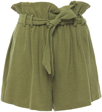 IRO Lemonika Gathered Linen And Silk-blend Tweed Shorts