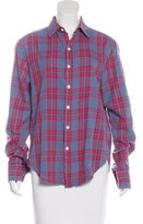 Boy By Band Of Outsiders Plaid Button-Up Top