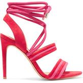 Alexandre Birman Aurora Suede Sandals - Red