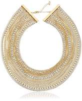 "ABS by Allen Schwartz Out Last Night"" Multi-Row Torsade Gold/Crystal Strand Necklace, 16"" + 2"" Extender"