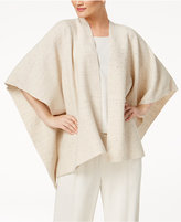 Eileen Fisher Heathered Serape Poncho