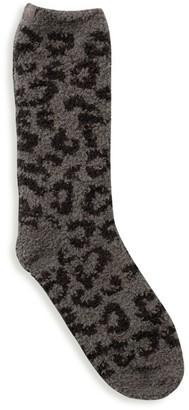 Barefoot Dreams Cozychic Leopard Socks