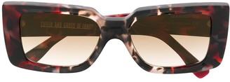 Cutler & Gross Marble Effect Sunglasses