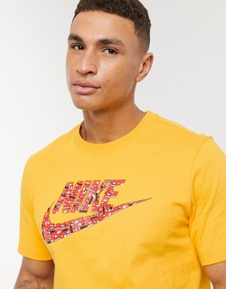 Nike shoebox logo t-shirt in yellow