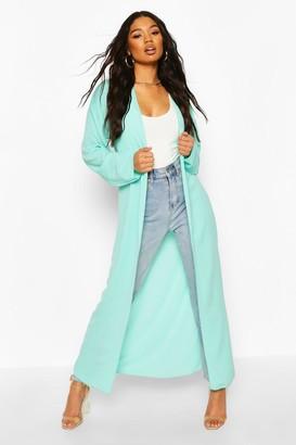 boohoo Basic Woven Maxi Kimono