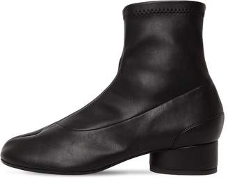 Maison Margiela 30mm Tabi Faux Leather Sock Boots