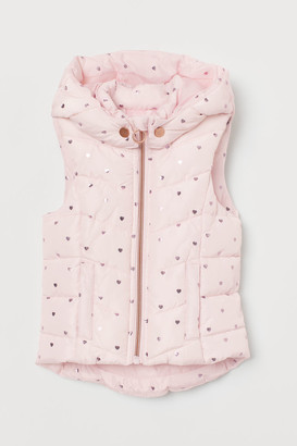 H&M Padded Vest with Hood - Pink