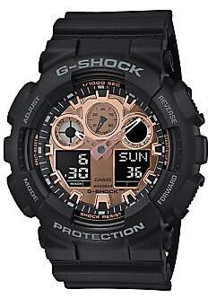 G-Shock Men's Digital-Analog Black Resin Strap Watch