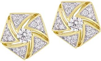 Affinity Diamond Jewelry Affinity 14K 1/2 cttw Diamond Cluster Stud Earrings
