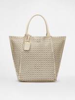 DKNY Leather Perforated Tote