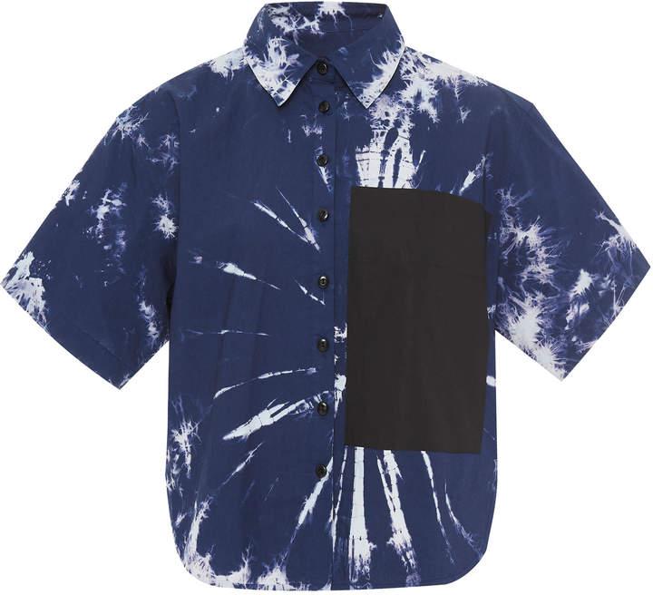 Proenza Schouler PSWL Tie-Dye Cotton-Poplin Shirt