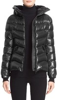 Moncler Women's Anthia Water Resistant Shiny Nylon Hooded Down Puffer Jacket
