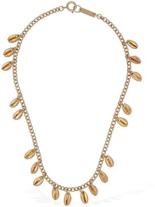 Isabel Marant Amer Shell Shape Charm Short Necklace