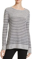 Velvet by Graham & Spencer Striped Cashmere Sweater