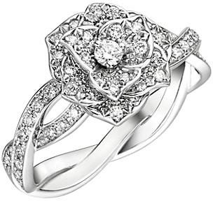 Piaget Rose 18K White Gold & Diamond Torsade Ring