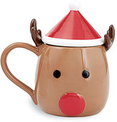 Mud Pie Holiday Reindeer Mug with Hat Lid