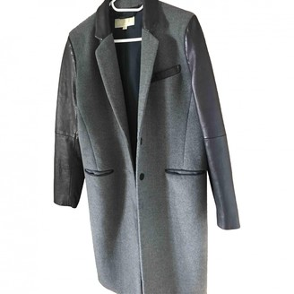 Michael Kors Grey Leather Coats