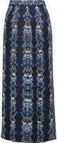 Mother of Pearl Kapka printed silk crepe de chine midi skirt
