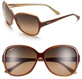 Maui Jim Women's 'Maile' 60Mm Sunglasses - Black/ Crystal
