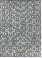 L.L. Bean Tile Wool Tufted Rug, Light Blue