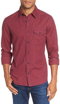 Nordstrom Men&s Shop Gingham Flannel Sport Shirt (Big)