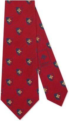 Gucci Bee crest silk tie