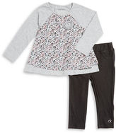 Calvin Klein Girls 2-6x Patterned Top and Jeggings Set