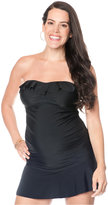 Motherhood Maternity Ruffle Bandeau Tankini Top