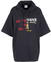 Vetements Slogan print oversized hooded T-shirt