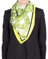 Versace Women's Medua Head Ornamental Pattern Silk Scarf.