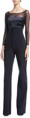 Chiara Boni Eke Long-Sleeve Illusion Jumpsuit
