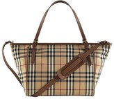 Burberry Beige Horseferry Check Canvas Tote Diaper Bag