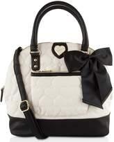 Betsey Johnson Be Mine Pocket Dome Satchel Bag
