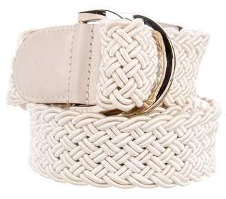 Gucci Woven D-Ring Belt
