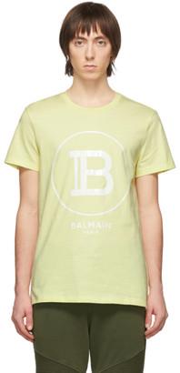 Balmain Yellow Logo T-Shirt