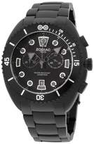 Zodiac ZO8202 Matte Black IP Stainless Steel & Rubber Quartz 45mm Mens Watch